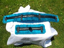 Miniature Horse Fleece Harness Saddle & Breast Collar Pads Set Amish Made TEAL