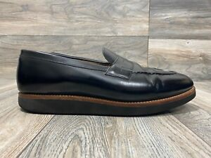 Grenson Penny Loafers In Black Patent Leather   Size 12 E   111148