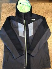 Northface Boys Triclimate Black/Gray/Neon Green 3 in 1 Jacket Size XL 18/20