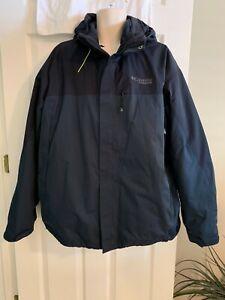 COLUMBIA Titanium Omni Heat Thermal Comfort Men's Size XXL Navy Blue Coat NEW