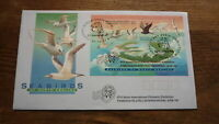 1995 SEABIRDS COVER, JAKARTA STAMP EXPO O/P SHEET, AUST POST EXPO PM