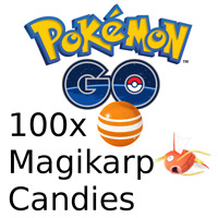 Pokemon Go 100x Magikarp Candies 🔥 Bonbons Magicarpe ✅ Read Description
