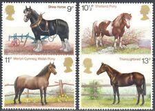 Gran Bretaña 1978 Yvert nº 868/71 Caballos de raza
