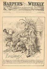 Political Cartoon, Democratic State Convention, Buffalo NY. Tammany, by Bush1883