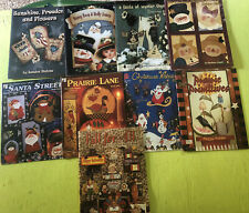 Lot Christmas Country Winter Tole Decorative Paint 9 Books Halloween Fall New