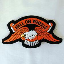 HELL ON WHEELS EMBROIDERED PATCH P200 iron on sew CLOTH JACKET patches NEW EAGLE