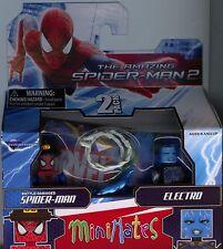 Marvel Minimates Amazing Spiderman 2 Battle Damaged Spider-man and Electro MINT