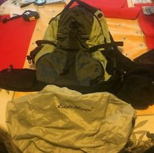 Eddie Bauer ? Internal Frame ? Outdoor Hiking Green Backpack w Raincover