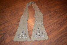 A14- Women's Brown Beaded Scarf