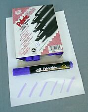 Fabric Mate Fabricmate Chisel Tip Fabric Markers Violet Lot of Six Markers