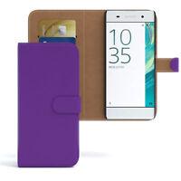 Tasche für Sony Xperia XA Flip Case Schutz Hülle Cover Lila