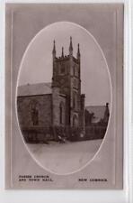 PARISH CHURCH AND TOWN HALL, NEW CUMNOCK: Ayrshire postcard (C30908)