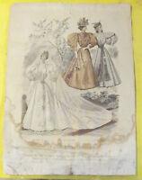 GRAVURE ANCIENNE LE MONITEUR DE LA MODE 1895 N°15 MARIÉE
