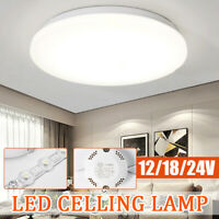 12/18/24W LED Ceiling Down Light Round Surface Mount Panel Lamp Bulb 6500K 220V