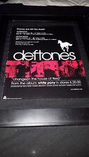 Deftones Change In The House Of Flies Rare Original Radio Promo Poster Ad Framed