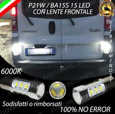 COPPIA LUCI RETROMARCIA 15 LED P21W BA15S CANBUS RENAULT TRAFIC 2 6000K NO ERROR