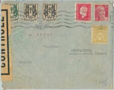 77475 - FRANCE - Postal History - CENSORED COVER  to ITALY   1945 - POSTER STAM