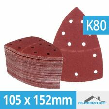 25 Stück Klett-Schleifblätter 105 x 152mm Korn 80 für Multischleifer Prio
