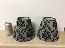 Pair Of Beautiful Lamp Shades With Baroque Pattern