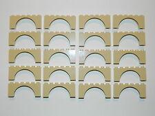 LEGO ARCH 1x2x6 x20 pieces # TAN - CREAM # bridge window wall castle r.B01