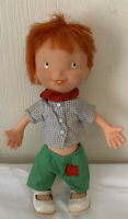Vintage Red Hair Country Boy Hobo Toy Doll Freckles Buck Teeth Hong Kong