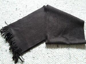Schal braun Fleece schön weich mit kurzen Fransen, ca.150 cm lang, unisex