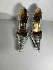 Womens TREND DESIGN Silver  Stiletto Pumps Shoes Heels Size 9 W Box