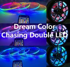 FIA x4PCS Wheel Rings Lights Chasing DOUBLE ROW LED Light Strips Bluetooth IP68