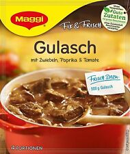 10 Bags * German Maggi Fix Gulasch / Goulash / Beef Stew (Best By Sale)