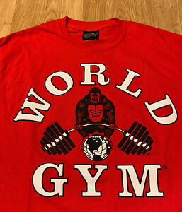 Vintage World Gym Red T-Shirt Size Men's Medium NEW