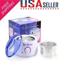 Hair Removal Hot Wax Electric Heater Warmer Waxing Kit Salon Spa Pot Machine USA