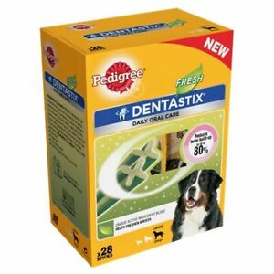 Pedigree Daily Dentastix Fresh Breath Dental Dog Treats Large Dog Chews x 28 Pcs