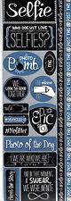 Reminisce SELFIE COMBO Cardstock Stickers scrapbooking POST THIS!