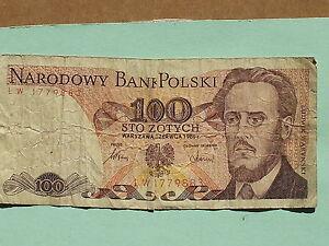 100 zlotych 1986 de pologne