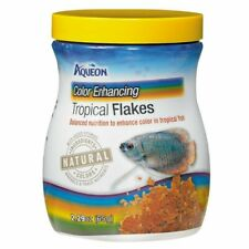 Aqueon Color Enhancing Tropical Flakes Fish Food (2.29 oz