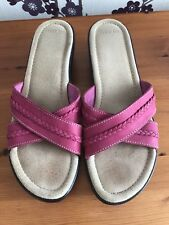 Lands End Pink Sandal Shoes Size 7 1/2 B Fitting