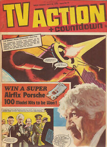 TV Action #75, 1972. VGC, with superb Jon Pertwee Doctor Who cover & comic strip