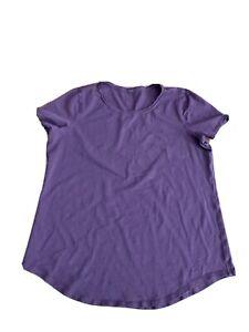 Lululemon Womens Short Sleeve Burgundy  Shirt L?