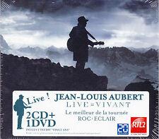 COFFRET 2 CD + 1 DVD JEAN LOUIS AUBERT LIVE = VIVANT 2012 NEUF SCELLE