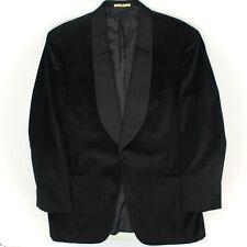 Joseph Abboud Millenium Hommes Smoking 44L Noir à Chevrons Revers Châle Costume