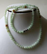 Untreated ** 100% Natural Beautiful A Grade JADE Beads Necklace, 20 Inches #N026
