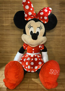 """21"""" DISNEY MINNIE MOUSE Large Plush Stuffed Doll 2016 on shoe Collectable   OxxO"""