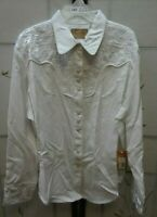 Scully Western Cow Girl Rodeo Shirt Pearl Snaps Embroidered Womens (C-60