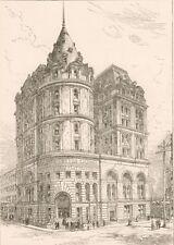 New Cotton Exchange, New York City. Wood Engraving. 1884