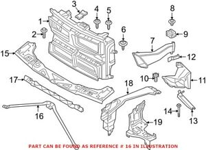 Genuine OEM Radiator Support Panel Brace for BMW 51647434550