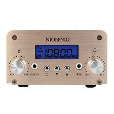 1W/6W 100Khz FM Transmitter Radio Stereo Station Wireless Broadcast PC control Y
