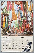 Affiche calendrier  originale  - 1961 - KLM - JAPON
