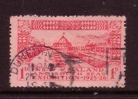 NEW ZEALAND....  1925  1d red dunedin exhib  used