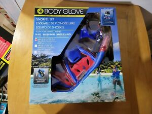New Opened Body Glove Youth Snorkel Set, Size S/M Blue/Red