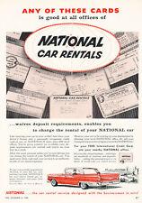 1959 National Rental Car Ford - Vintage Advertisement Car Print Ad J472